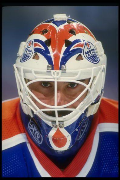 Goaltender Grant Fuhr of the Edmonton Oilers Mandatory Credit ALLSPORT USA /Allsport