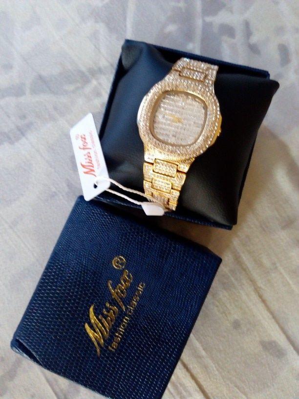 75a5d09f5cc2 Miss Fox Brand Watch Quartz Ladies Gold Fashion Wrist Watches Diamond -  chicmaxonline