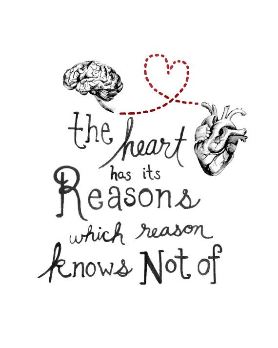 The Heart has its reasons anatomical Valentine by MomeRathGarden, $4.00