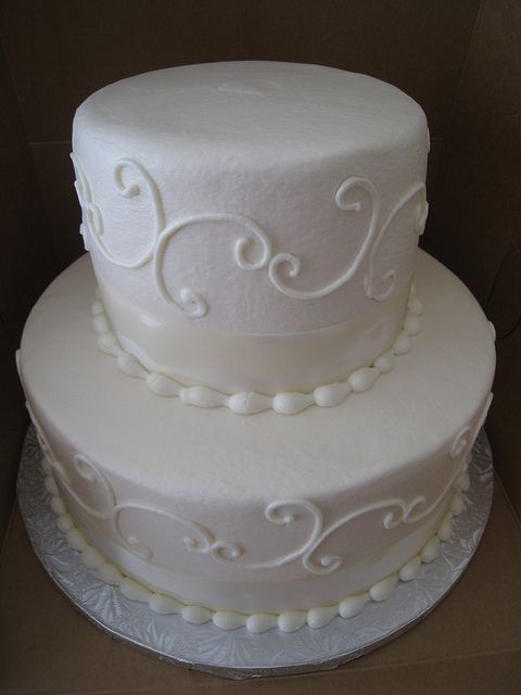 Small Two Tier Wedding Cakes | tier buttercream wedding cake | Flickr - Photo Sharing!