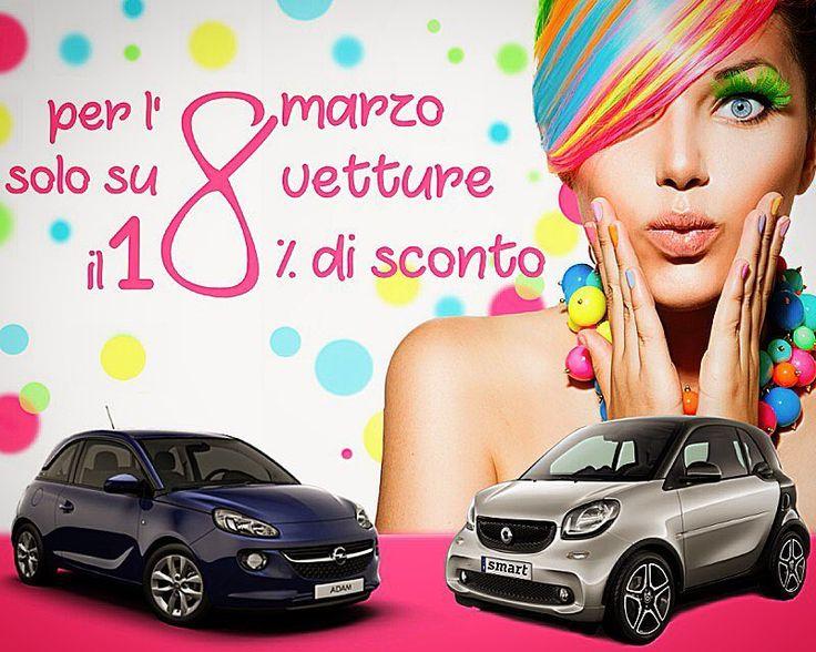 #Barbuscia festeggia le #Donne! 8 #smart e 8 #Opel #Adam in promozione speciale con il 18% di sconto su listino. Affrettati! >> http://bit.ly/2lSUdMi