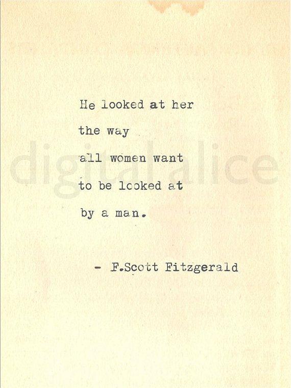 VINTAGE TYPEWRITER PRINT f Scott Fitzgerald Gatsby Quote Wall