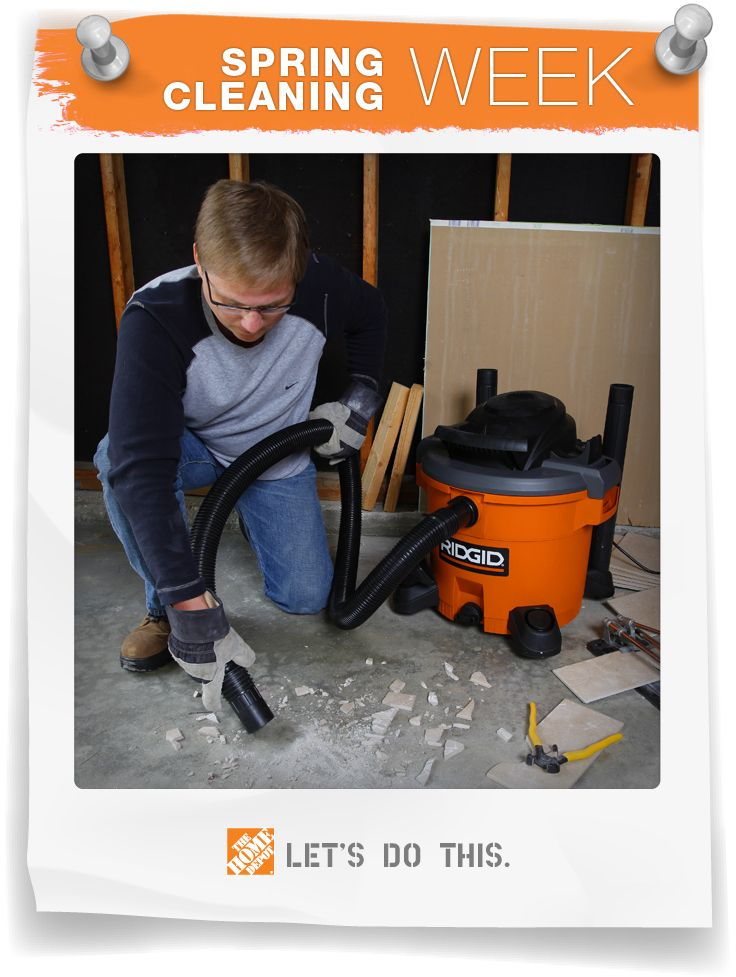 SPRING CLEANING WEEK: Tidy up the car for spring with the Ridgid 60L Wet/Dry Vac. Its powerful motor easily sucks up dirt, debris and spills from the most challenging messes. #Spring  #SpringCleaning #LetsDoThis