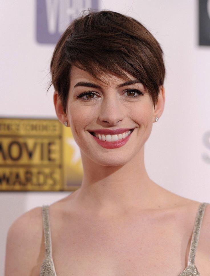 Anne Hathaway Pixie - Anne Hathaway Hair - StyleBistro