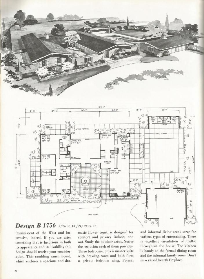 1000 ideas about vintage house plans on pinterest for 1970s ranch house plans