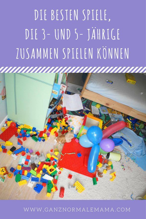 Die besten Spiele, die 3- und 5-JährigeGeschwister zusammenspielen können.