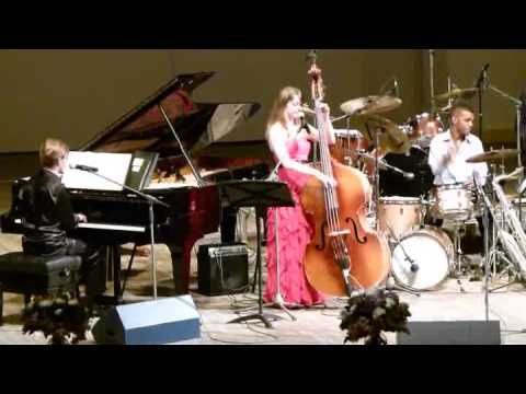 "OLEG AKKURATOV and KATE DAVIS - ""Stardust"" - Oleg Akkuratov (piano, vocal) and Kate Davis (bass, vocal) w/ Mark Whitfield (drums) perform ""Stardust"" at Tchaikovsky Hall in Moscow during the Future of Jazz concert hosted by Igor Butman on May 22, 2013."