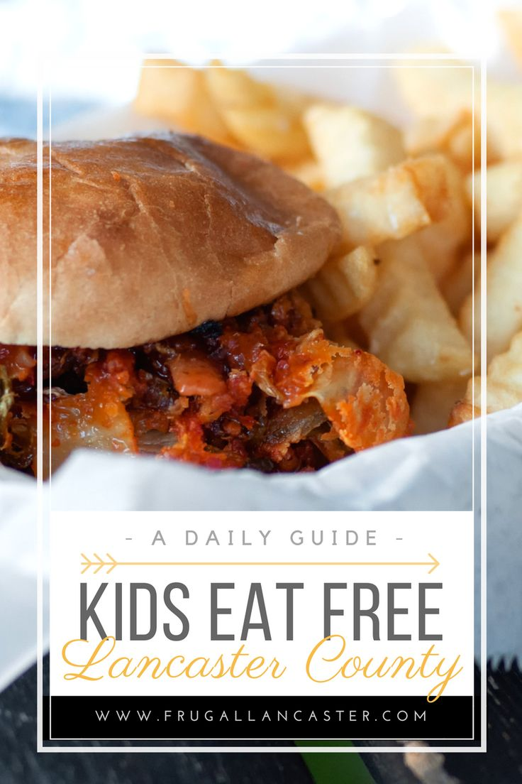 Where & When Kids Eat Free in Lancaster = California Tortilla (All Week), Bird-in-Hand Family Restaurant (M-Sa https://lancasterpa.com/coupons/bird-in-hand-restaurant/ ), Good 'N Plenty Restaurant (M-Sa), Applebees (Tuesdays), Bob Evans (Tuesdays), CiCi's Pizza (Tuesdays), IHop (Tuesdays), Isaac's (Tuesdays), Qdobas (Tuesdays), Moe's (Tuesdays), Denny's (Tuesdays &Saturdays), Red Robin (Wednesday), Florentino's Runway Restaurant at the Lititz Airport (Saturdays)