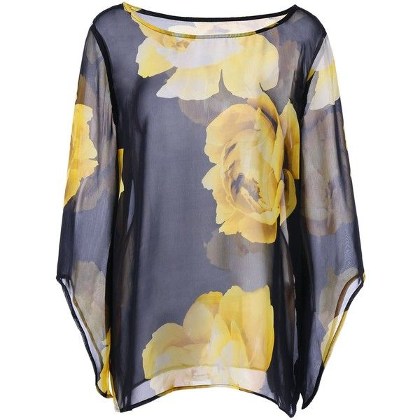 Floral Batwing Sheer Plus Size Top ($8.25) ❤ liked on Polyvore featuring tops, sheer top, plus size floral tops, women's plus size tops, floral print tops and flower print tops