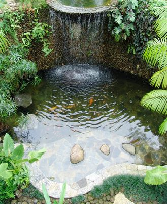 17 best images about garden ponds and fountains on for Easy backyard pond