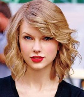 Taylor Swift short wavy bob