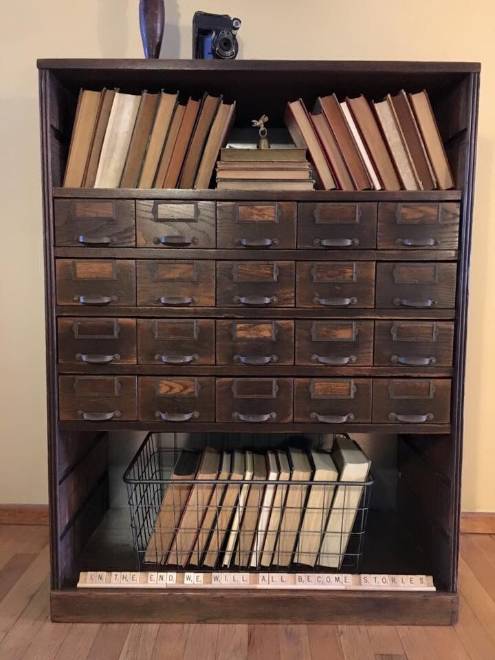 Vintage Card Catalog repurposed and brought back to life!