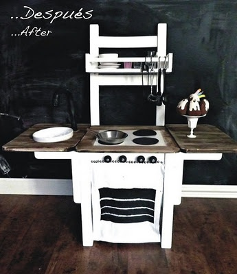 Compact Play Kitchen from Chair