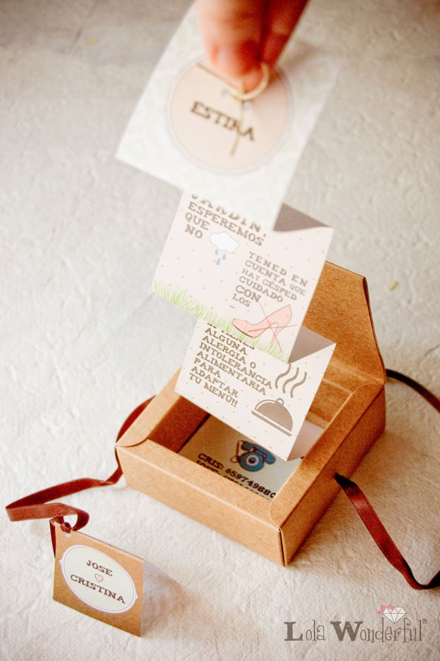 Lola Wonderful_Blog: Bodas: Invitación cajita de regalo