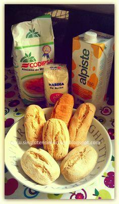 Sin Gluten / Sin Lácteos: Panecillos tiernos con harina de mandioca y arroz, sin levadura ni gasificante.