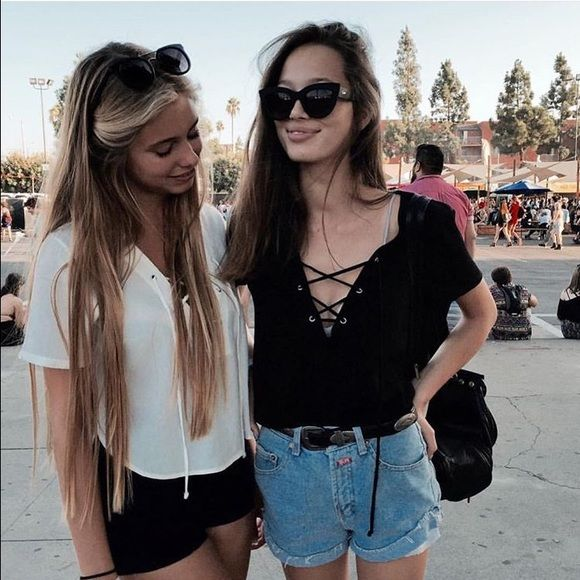 Worn once black Brandy Melville tee In perfect condition Brandy Melville Tops