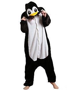 8e3410caba Kigurumi+Pijamas+Pingüino+Leotardo Pijama +Mono+Festival Celebración+Ropa+de+Noche+de+los+Animales+Halloween+Negro+ +blanco+RetazosLana+–+USD+ +39.99
