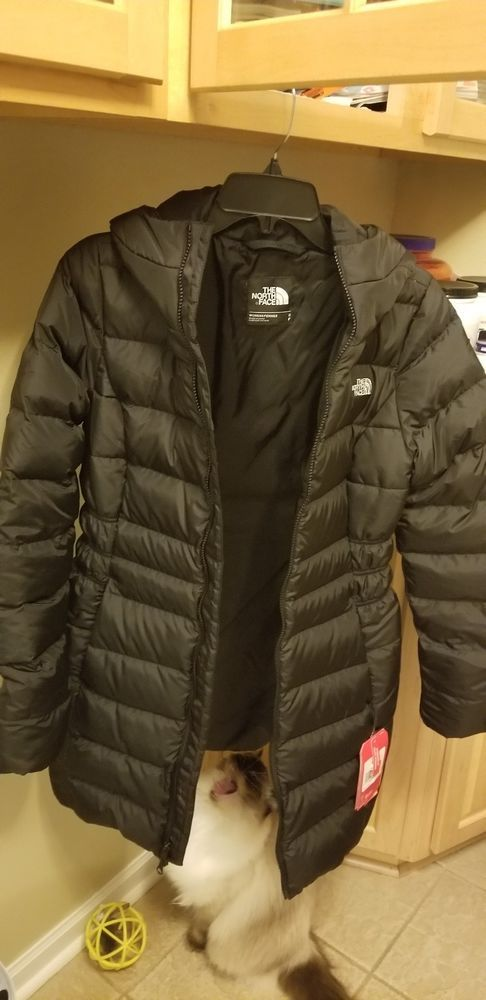 84904a416 Women's The North Face 550 Goose Down Puffer Jacket Coat Black Size ...