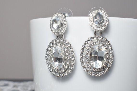 Retro Bridal Earring Wedding Earring Drop by Mkedesignwedding