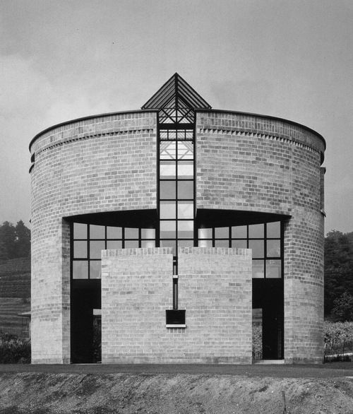 Casa Rotonda, The round house in Stabio, Ticino, Switzerland.1980-1982. Mario Botta