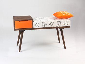 Scandinavian Bench Side Table - Retro Design
