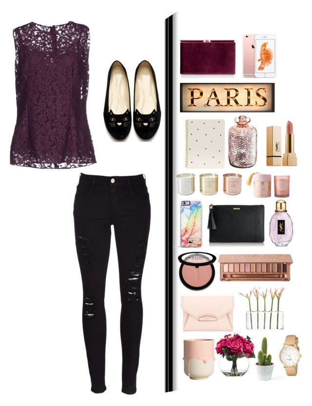 """Paris, France"" by chiomaandangel ❤ liked on Polyvore featuring Monsoon, Dolce&Gabbana, Frame Denim, Sugar Paper, Tom Dixon, Forever 21, GiGi New York, Sephora Collection, Givenchy and Urban Decay"