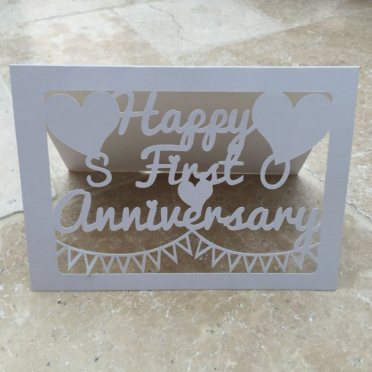 New to weheartcards on Etsy: First Wedding Anniversary Keepsake Card custom or personalise (7.95 GBP)