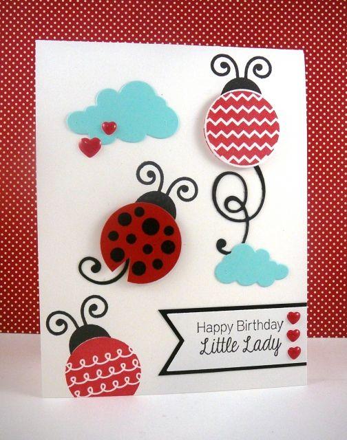Little Lady Birthday Card by Taylor VanBruggen #Cardmaking, #Birthday