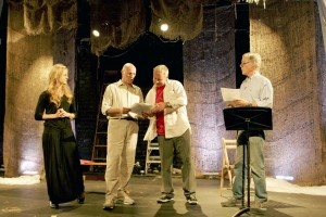 Iva Hasperger, Peter Woodward, Alex Hyde-White and Richard Chamberlain