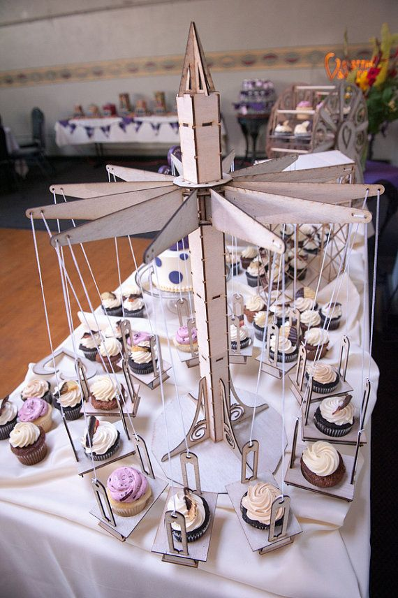 Cupcake Holder Carnival Style Swings Hold 12 By