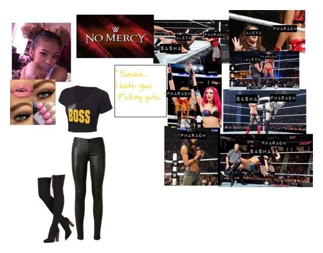 """""""⚜️ Pharaoh Banks ⚜️- Betraying Sasha At No Mercy"""" by iron-maiden-amy ❤ liked on Polyvore featuring Yves Saint Laurent, WWE, OC, NXT and wweoc"""