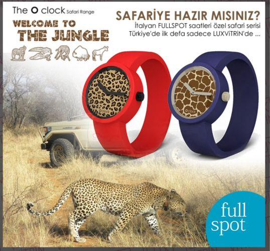 Safariye Hazır mısın? Leopar, Zebra ve Safari desenleriyle Fullspot Saatler LUXViTRiN'de https://www.luxvitrin.com/marka/fullspot-oclock-saat