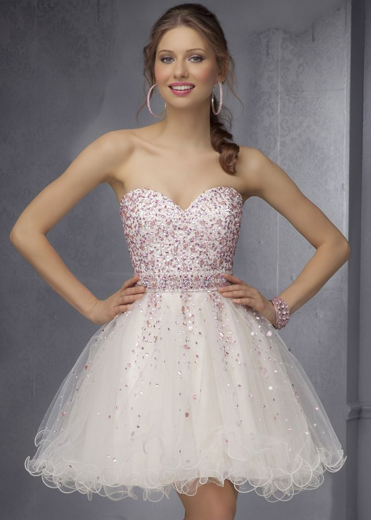 Sticks & Stones by Mori Lee 9286 Contrast Beaded Party Dress - Homecoming - Sweet 16 - Bat Mitzvah - RissyRoos.com