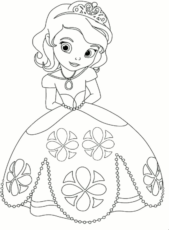 princess coloring page kleurplaat prinses - Coloring Pages Princess