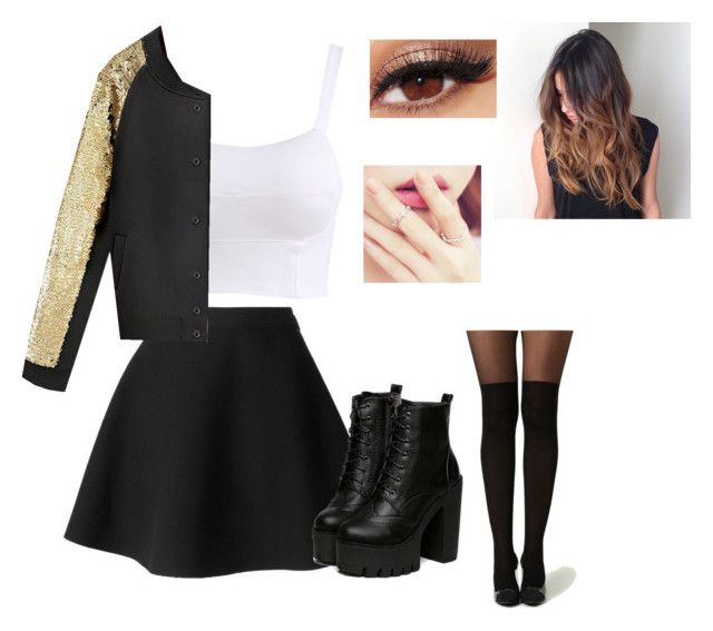 """""""Stage outfit"""" by alexia-exo ❤ liked on Polyvore featuring MSGM, Lancôme and kitsch island"""