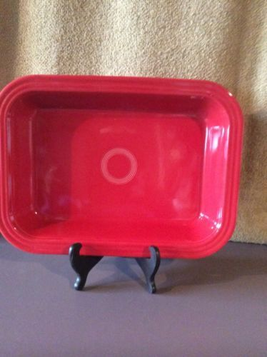Fiesta  9 x 13  Baking Dish Scarlet Red Used 1 Time Fiestaware in Pottery & Glass, Pottery & China, China & Dinnerware, Fiesta: Contemporary | eBay
