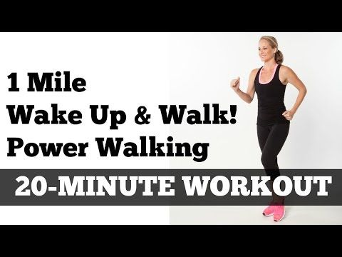 "1 Mile Walk Fast | Low Impact Indoor Power Walking Workout ""Wake Up and Walk!"" - YouTube"