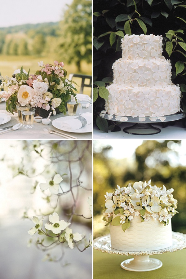 This cake is AMAZING! And the dogwood flowers are totally precious!