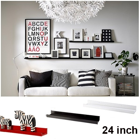 "Picture Ledge 32"" Wall Display Shelf Spice Rack Holder Book Photo Ledge Gallery   eBay"