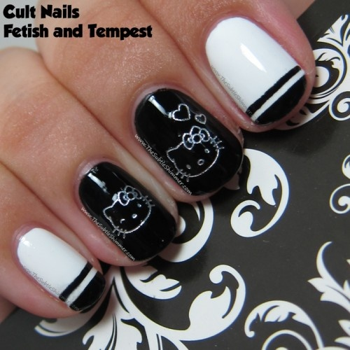 Hello Kitty. I love the white with black tips