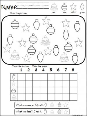 Free Christmas winter graphing activity.  Great for Pre-K, Kindergarten, and 1st grade during December.