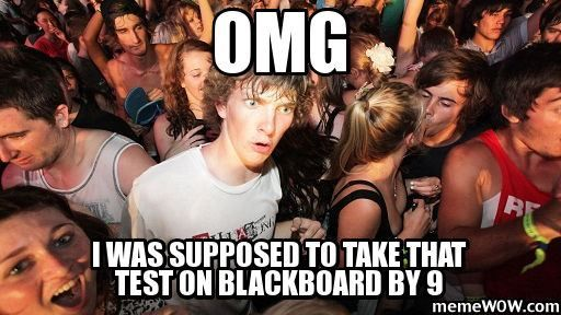 Don't be like this! Do your blackboard postings. - CF