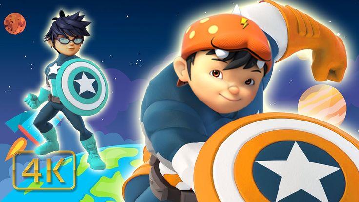 BoboiBoy Galaxy Transforms Into Captain America Finger Family Boboiboy S...