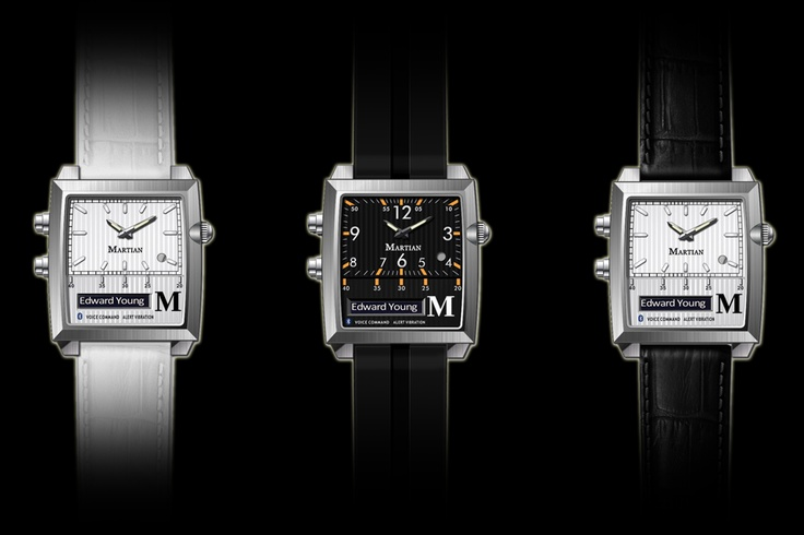 Martian Watches - The World's First Voice Command Watch. The Passport series comes in three styles.
