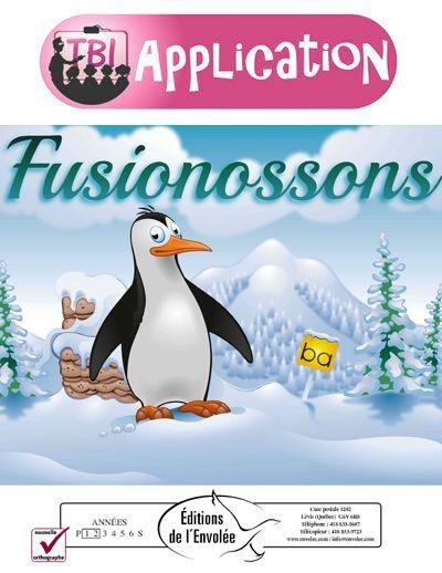 Fusionossons - Fusionossons est un jeu de conscience phonologique qui exerce la fusion phonémique simple. L'élève doit d'abord fusionner un son à une voyelle afin de créer une syllabe, puis associer cette syllabe à la première syllabe de l'un des cinq mots illustrés. La grille d'activités compte 16 sons à fusionner avec 5 voyelles, pour un total de 80 syllabes à nommer et à associer chacune à son bon mot. Le maitre de jeu est un amusant manchot évoluant dans un décor enneigé.