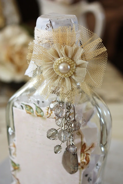 altered bottle tutorial - we receive little glass bottles in our stores all the time - had not thought of this craft - lovely!
