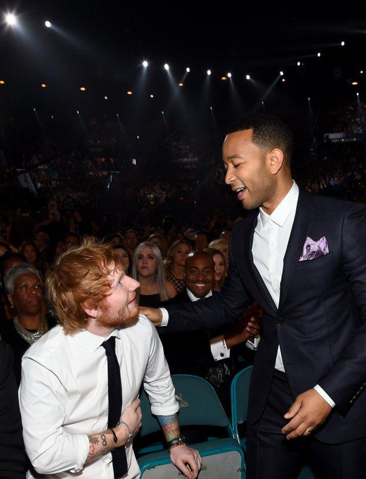 Pin for Later: Pour Voir les Meilleures Photos des Billboard Music Awards, C'est Par Ici! Ed Sheeran et John Legend