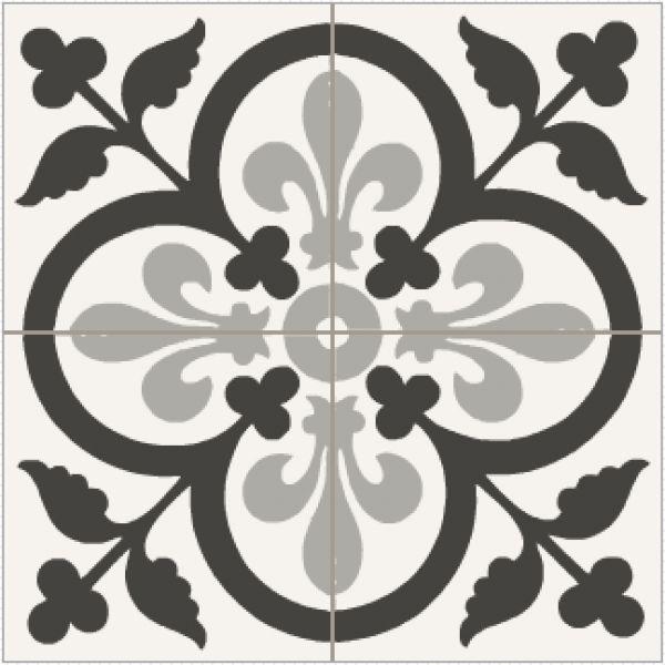 Les 25 meilleures id es concernant sol au pochoir sur pinterest plancher de salle de bain bon - Carrelage ancien noir et blanc ...