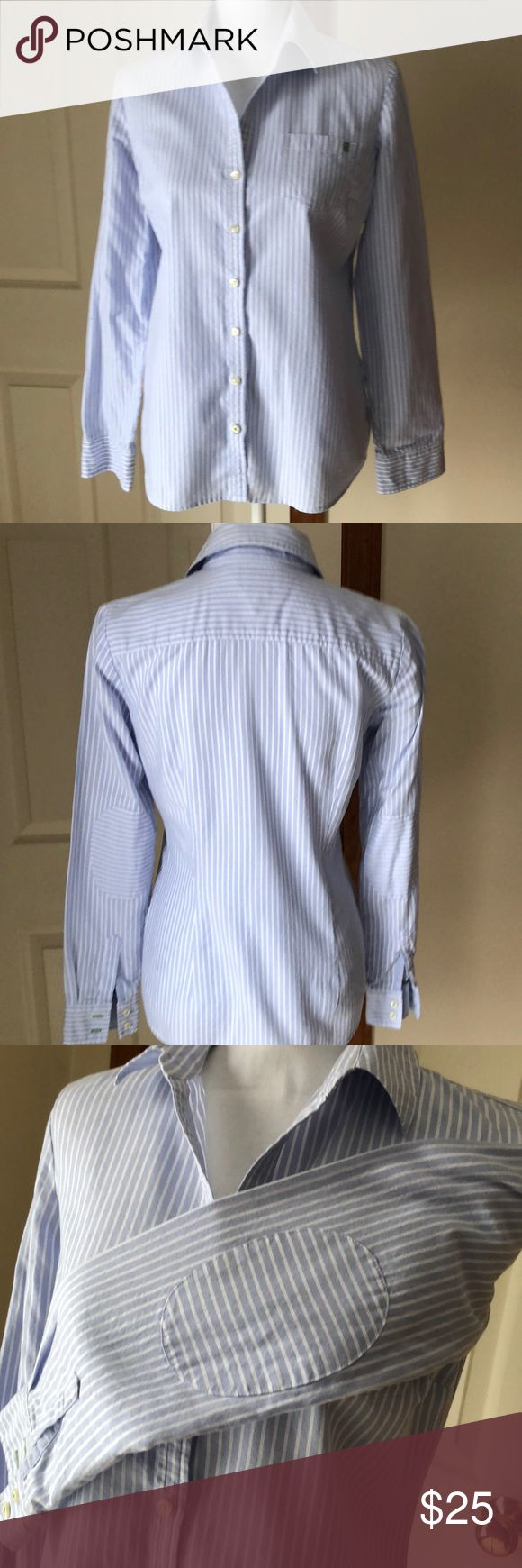 Tommy Hilfiger Oxford Shirt Tommy Hilfiger Women's Oxford shirt in size SP with stripes of light blue and white. In great pre-owned condition. Tommy Hilfiger Tops Button Down Shirts