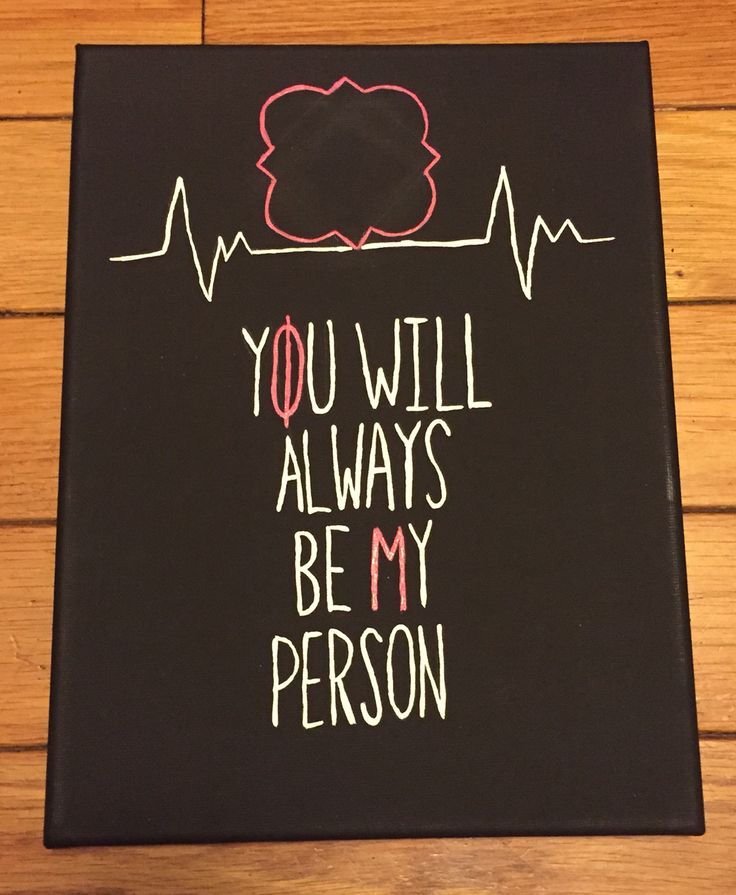 Phi Mu Grey's Anatomy canvas